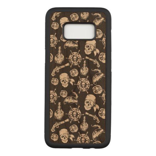 Danger Samsung Galaxy S8 Slim Cherry Wood Case