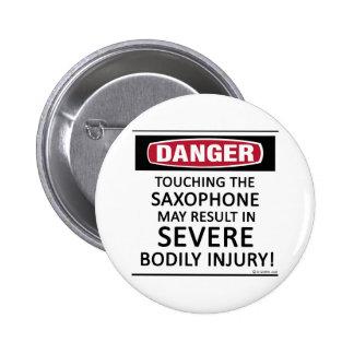 Danger Saxophone 2 Inch Round Button