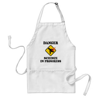 Danger Science in Progress - Flaming Fart Humor Standard Apron