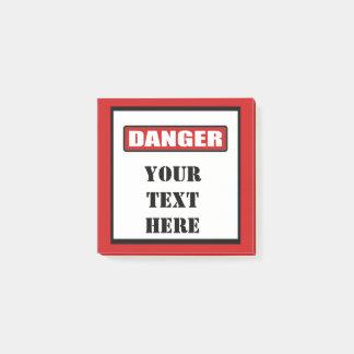 Danger Sign Custom Post It 3x3 Post-it® Notes