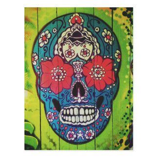 Danger Sign  Skull Postcard