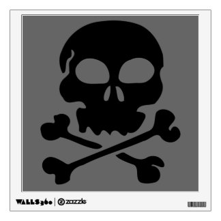 Danger Skull and Crossbones Wall Decal