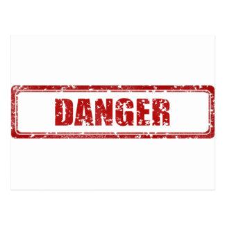 Danger stamp postcard