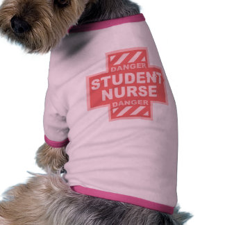 Danger Student Nurse -pink Doggie Shirt