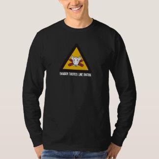 Danger Tastes Like Bacon (longsleeve) T-Shirt