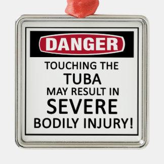 Danger Tuba Metal Ornament
