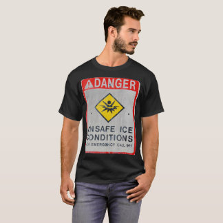 Danger Unsafe Ice Men's Basic Dark T-Shirt