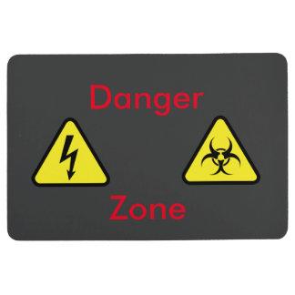 Danger zone floor mat