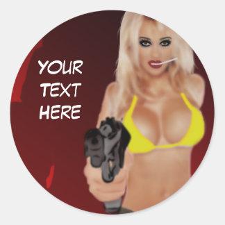 Dangerous Blond - Femme Fatale Sticker