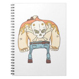 Dangerous Criminals Set Of Outlined Comics Style Notebook