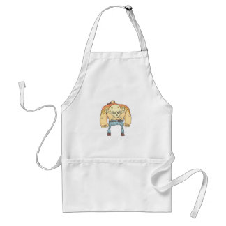 Dangerous Criminals Set Of Outlined Comics Style Standard Apron