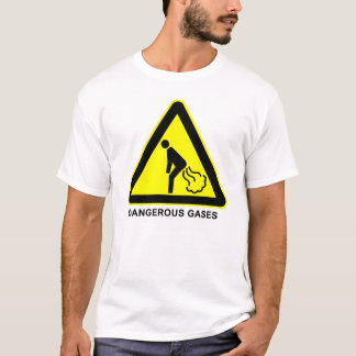 Dangerous Gases Warning Sign T-Shirt