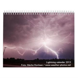 Dangerous Lightning 2013 calendar