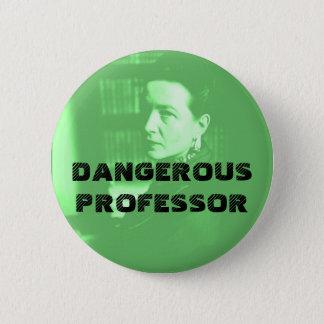 Dangerous Professor - Simone in Green 2 Inch Round Button