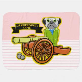 Dangerously Cute Pug Baby Blanket