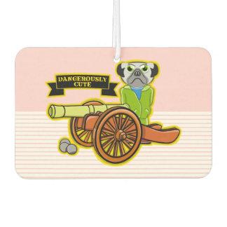 Dangerously Cute Pug Car Air Freshener