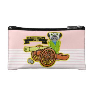 Dangerously Cute Pug Dog Cosmetic Bag