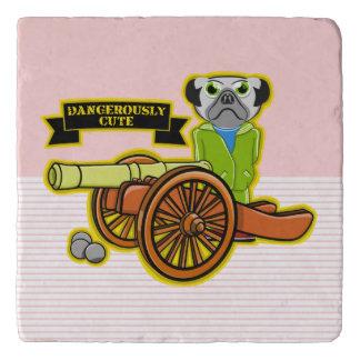 Dangerously Cute Pug Trivet