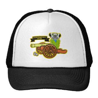 Dangerously Cute Pug Wearing Tracksuit Trucker Hat
