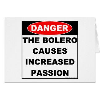 Dangers of Bolero Notecard