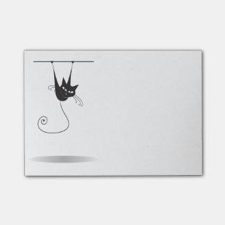 Dangling Black Cat - Post-it Notes