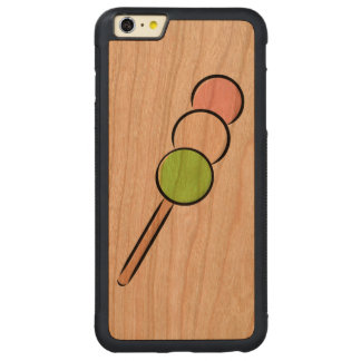Dango Japanese Sweet Dumpling Mochi Green Pink Art Carved Cherry iPhone 6 Plus Bumper Case
