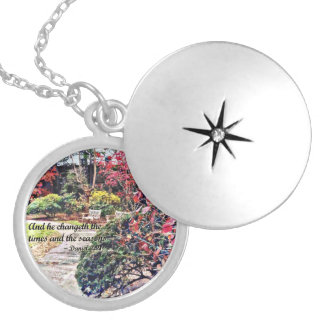 Daniel 2:21 - And he Changeth Silver Plated Necklace