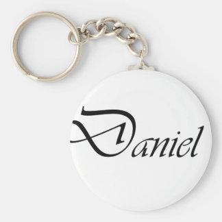 Daniel Basic Round Button Keychain