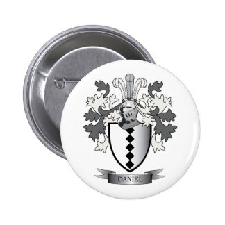 Daniel Family Crest Coat of Arms 2 Inch Round Button