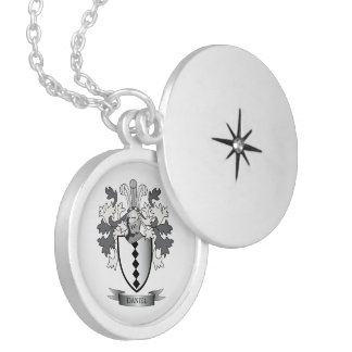 Daniel Family Crest Coat of Arms Locket Necklace