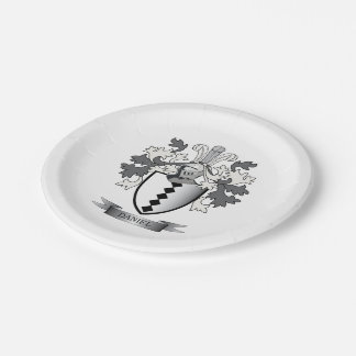 Daniel Family Crest Coat of Arms Paper Plate