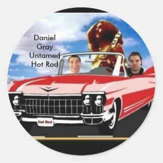 Daniel Gray Untamed Round Sticker