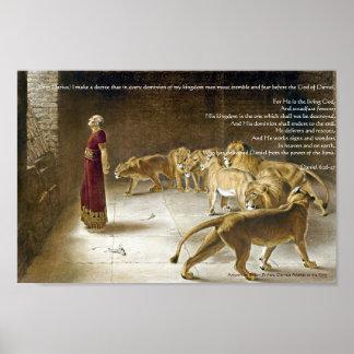 Daniel in the Lion s Den Bible Art Print