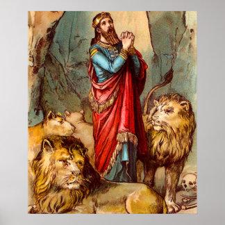 Daniel in the lion`s den poster