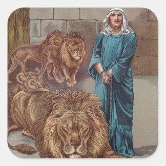 Daniel Lions Den Square Sticker