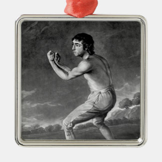 Daniel Mendoza, engraved by Henry Kinsbury, 1789 Silver-Colored Square Ornament