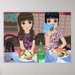 Daniela & Miva Poster