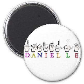 DANIELLE FINGERSPELLED ASL NAME SIGN MAGNET