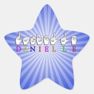 DANIELLE FINGERSPELLED ASL NAME SIGN STAR STICKER