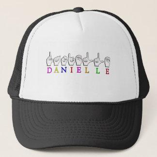 DANIELLE FINGERSPELLED ASL NAME SIGN TRUCKER HAT
