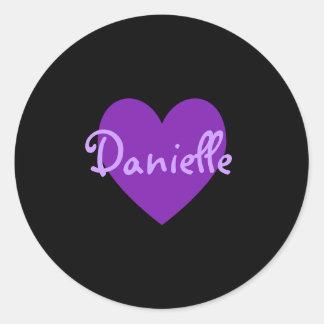 Danielle in Purple Classic Round Sticker