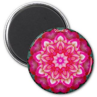 DANIELLE ~ Personalised Miniature Rose Fractal ~ Magnet