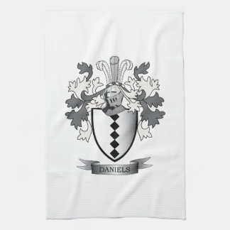 Daniels Family Crest Coat of Arms Kitchen Towel