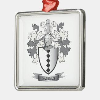Daniels Family Crest Coat of Arms Metal Ornament