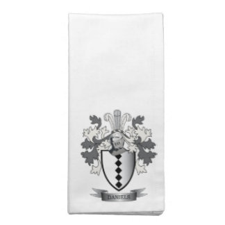 Daniels Family Crest Coat of Arms Napkin