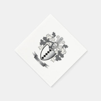 Daniels Family Crest Coat of Arms Paper Napkin