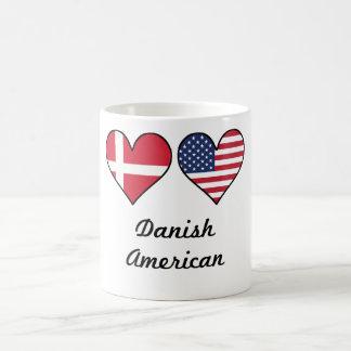 Danish American Flag Hearts Coffee Mug