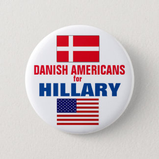 Danish Americans for Hillary 2016 2 Inch Round Button