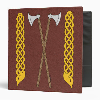 Danish Axes Crossed with Plaitwork 3 Ring Binder