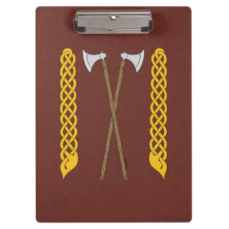 Danish Axes Crossed with Plaitwork Clipboard